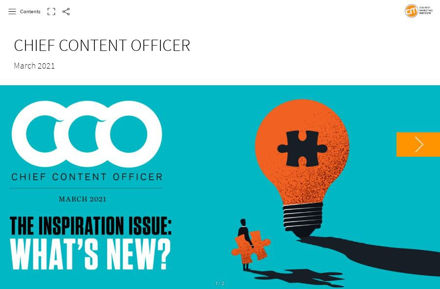 CCO March 2021: The Inspiration Issue (TOC Preview)